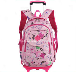 موزّع طالب جميل تقدّم مدرسة حمولة ظهريّة عجلة [بووك بغ] حامل متحرّك حقيبة