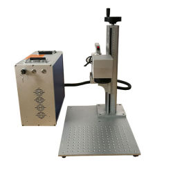 20W 30W 60W Metal Mopa لون العلامة على الفولاذ المقاوم للصدأ آلة علامة ليزر من الألياف للشعار