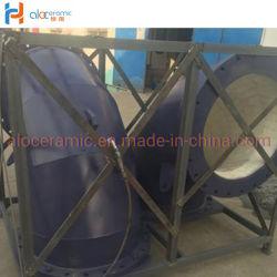 L'usure en céramique résistant bordée de coude de tuyau pipeline en acier