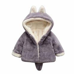 Kleid nettes Hoodie des Winter-Kindes scherzt weichen starken Umhüllungen-Mantel