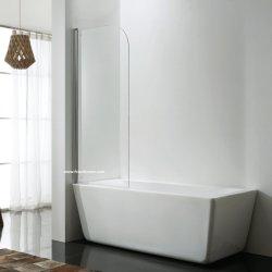 거친 유리를 가진 목욕 통 샤워 스크린