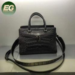 Schooltas van de Handtas van de Totalisator van het Leer van de krokodil de Zwarte Echte Dame Bag Emg5468