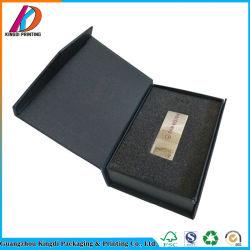 Dom de papelão Preto personalizado caixa de embalagem para uma unidade flash USB