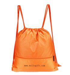 Sac de sport de Sport Polyester personnalisé coulisse sac à dos Sac de voyage de 100 % d'eau resistent Commerce de gros