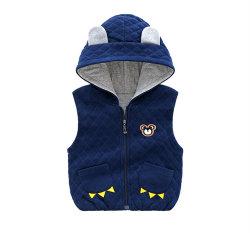 Vest van het Fluweel van de Winter van Hoodie van de Peuter van de Kleding van de Trui van de baby het Warme