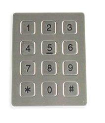 Het ruwe Toetsenbord van het Metaal met 12 Sleutels, Toetsenbord van het Roestvrij staal van de Vandaal het Bestand