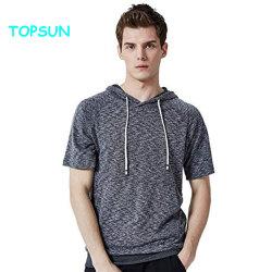 人の運動フード付きのTシャツの偶然の明白なHoodiesの短い袖のプルオーバーのHoodyのスエットシャツ