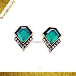 De beste Verkopende Rhodium van de Nagel van het Oor van de Halfedelsteen Zwarte Gouden Oorring van de Nagel van het Kristal van Juwelen met Zirconiumdioxyde