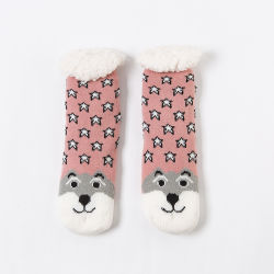 Mulheres de espessura de Inverno do Forro de velo Sock meias de sapata de presentes de Natal
