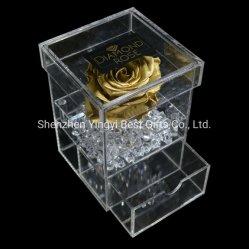 Custom водонепроницаемый Clear акрилового пластика букет роз украшения шоколадные конфеты свадьбы зерноочистки честь дисплея
