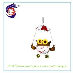 Kleur Schilderen Design Uil Metaal Parachute Hanging Christmas Gift
