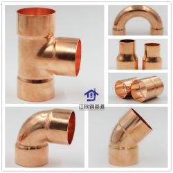 Raccord en t de cuivre coude réducteur de raccord de tuyau de réfrigération de Pièces de tuyauterie