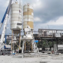 Planta de mistura de lote de concreto de mecanismos concretos