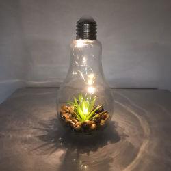 結婚式のクリスマス・パーティのホームのための銅線ランプ、店の庭の寝室の装飾の屋内照明が付いているLp3104ガラス装飾