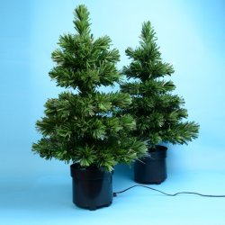 60cm de fibra óptica de rotação de PVC decoração personalizada Árvore de Natal