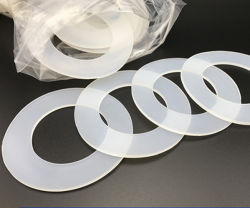 Claro transparente personalizada Grau Alimentício arruela de borracha de silicone plana