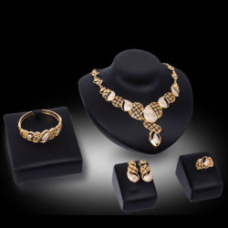 As mulheres de alumínio elegante criativa de moda Colar brincos conjunto de jóias