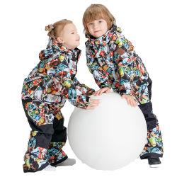Kind-starker Winter-im Freien wasserdichter mit Kapuze Skifahren-Snowboardingwindundurchlässiger Snowsuit