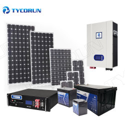 Tycorun OEM Solar Energy Panel Generator 리튬 배터리 보관 조명 시스템 하이브리드 인버터 태양광 동력 홈 PV 시스템 세트