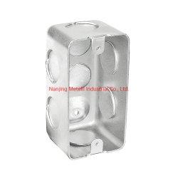 Angepasst galvanisiert, Gehäuse-Metallelektrischen Verzweigungs-Ausscheidungswettkampf-Schalter-Kasten stempelnd