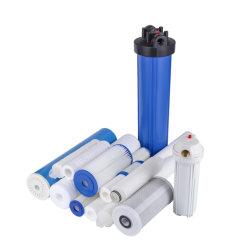 Cartuchos de filtro de agua para el purificador de agua y el agua para el tratamiento Sistema de filtro PP fundido de 10 20 30 40 pulgadas Filtro CTO/GAC filtro plisado de la herida de la cuerda