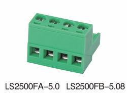 Steckbare Klemmenleiste 2500fa 2500fb Pin-2-24/der Methode der Ce/RoHS/VDE Bescheinigung-5.0mm/5.08mm