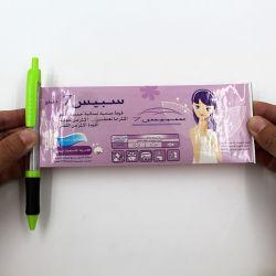 Publicidade promocional Banner Plástico Folheto de canetas de feltro