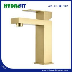 Colpetto di acqua quadrato moderno del miscelatore del rubinetto del bacino dell'oro di alta qualità dell'acciaio inossidabile 304