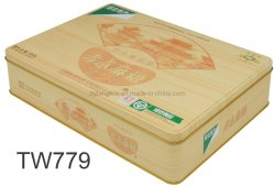 Galletas de chocolate rectangular de estaño cookies Juegos de Mesa de verificación