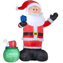 La altura de 9 pies inflables Santa Claus para la decoración de Navidad