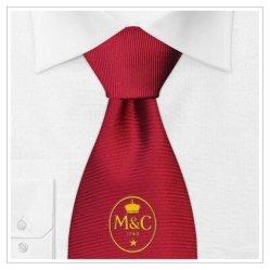 Weinfarbe-Firmenzeichen-Entwurfs-Form gesponnene Silk Halsbekleidung