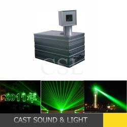Высокая мощность 8 Вт-50W зеленого лазерное шоу лазерной системы