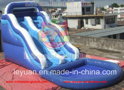 Dolphin gonflable Water Slides avec Detachable Swimming Pool
