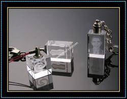 Promotion (kc03)のためのカスタマイズされたCrystal Photo Keychain