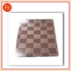 Piastra in acciaio inox maglie metalliche perforate