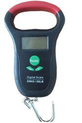青いバックライトの温度計防水釣荷物のスケール(XFOCS-26)