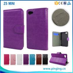 Einfachheit Wallelt Einbauschlitz Flip Leather Cover Fall für Sony Xperia Z5 Mini Compact