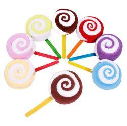 도매 작은 선물 아이디어 Lollipop 케이크 수건 유치원 재미있은 창조적인 법인 선물