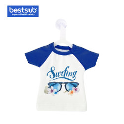 装飾のギフトのためのハンガーが付いている昇華小型かわいいTシャツ(青のカラーか袖)