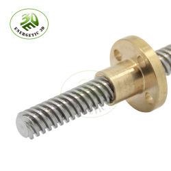 Personalizar el CNC de piezas de plomo de 8 mm de rosca de tornillo con tuerca de piezas de la impresora 3D.