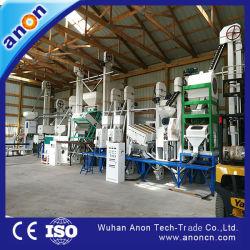 Anon 30-40톤 자동 쌀 밀 쌀 밀링 모든 라이스 머신 공장