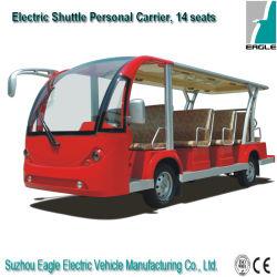 14 Sitzelektrischer Bus, Doppelventilkegel-Bus, Electri Auto, besichtigenbus, batteriebetriebener touristischer Bus