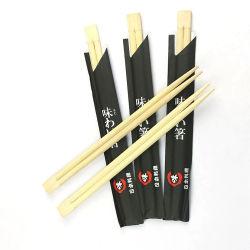 Hete Verkopende 20cm 21cm 23cm 24 Document Verpakte Eetstokjes van het Bamboe van de Eetstokjes van de Sushi van Tweelingen Japanse Houten Houten Beschikbare