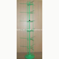Железный стержень рычага подвески металлические стойки 3 Стороны вращающихся тапочки подставка для дисплея (PHY2018)