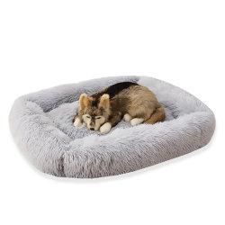 المستطيل النوم مربى كلاب مخملي سرير كلب ناعم للغاية