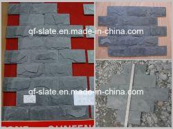 自然な灰色の壁のきのこの石のタイルの壁のクラッディングのスレート