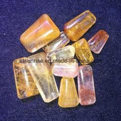 De natuurlijke Tegenhanger Jewllery van het Kristal van het Kwarts van Rultilated van de Halfedelsteen