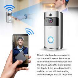 WiFi видео дверь камеры с обнаружением движения и ночного видения