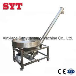 Tremonha redondo de aço inoxidável do transportador de parafuso sem-fim de sal