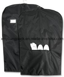 Nylon preto Prensa Travel Garment sacos com equipamento Pocket